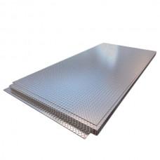 Лист нержавеющий 2,0х1250х2500 мм AISI 304 (08Х18Н10) х/к, 2B, рифленый